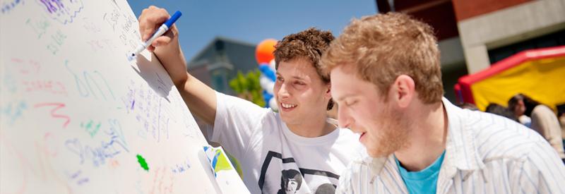 Teen boys at Israel65 event